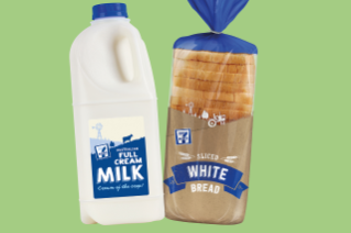 7-eleven August promotion offer Grab Any 2 for $5 7-Eleven Bread & Milk